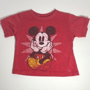 Disney 18M Mickey Mouse T-Shirt Red